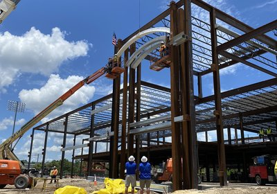 Topping ceremony held for the University of Florida's Football Training Facility